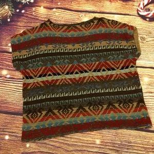R Lauren cotton patterned sweater LIKE NEW
